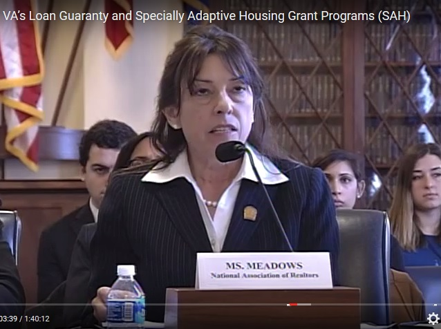 NAR's Meadows Testified Before House VA Subcommittee