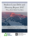 2017 Student Loan Debt and Housing report cover