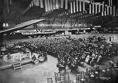 View of the convention floor at NAR's annual membership meeting in Louisville, KY, June 1912.