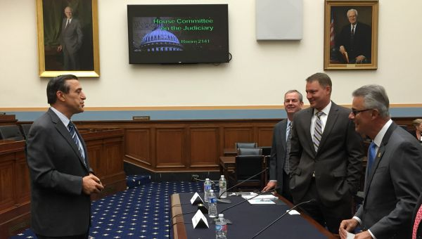 NAR President Chris Polychron testifying before the U.S. House Judiciary Subcommittee on Courts, Intellectual Property, and the Internet