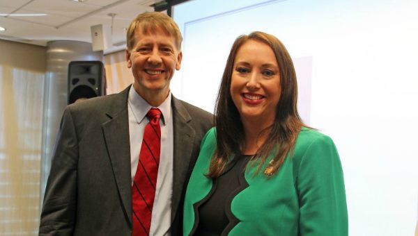 Richard Cordray and Elizabeth Mendenhall