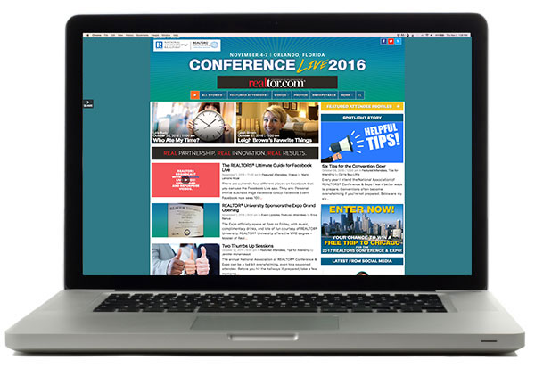 Conference Live on Laptop