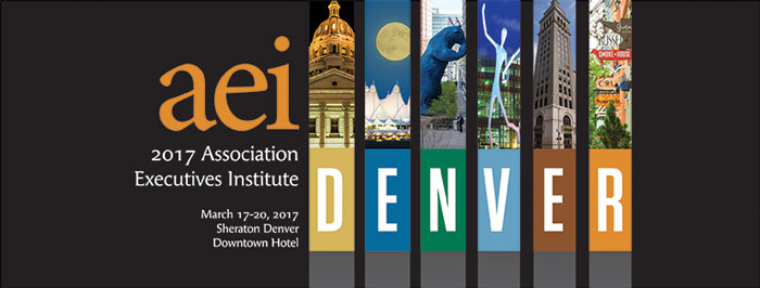 2017 AEI will be held March 17-20 at the Sheraton Denver Downtown Hotel