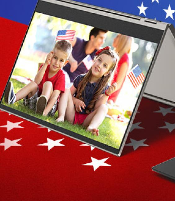 Family on Lenovo Tablet Memorial Day