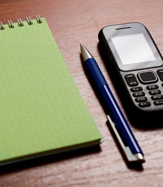 Notepad, Pen, Phone
