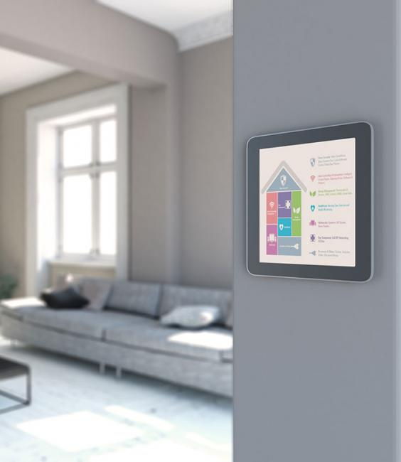 Smart Home Panel on Wall