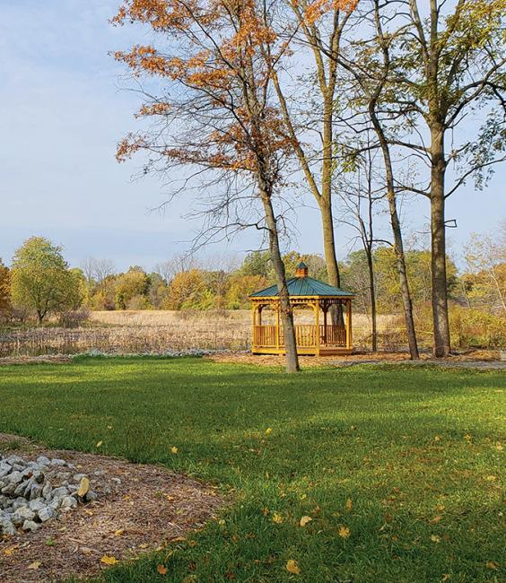 Wetland in Indiana turned into an outdoor destination with trails, a bird sanctuary, and a gazebo