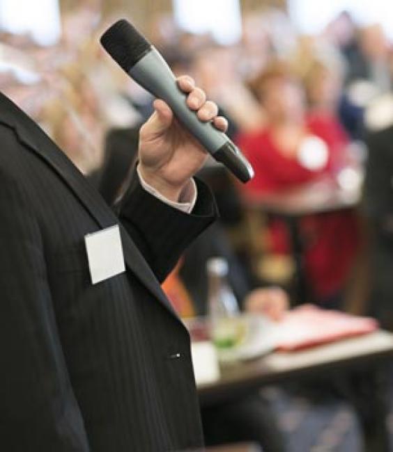 Meeting Speaker With Microphone