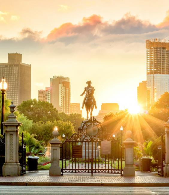 Statue in Public Garden in Boston