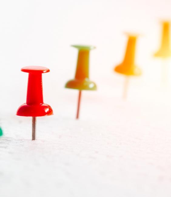 Timeline Concept - Push Pins