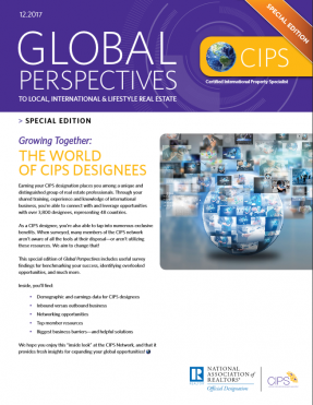 Cover of the December 2017 issue of Global Perspectives: Special Edition