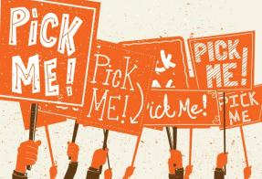 Pick Me Orange Signs
