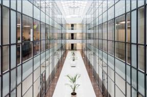 Office building atrium