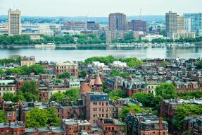 Charles River and Boston Panorama