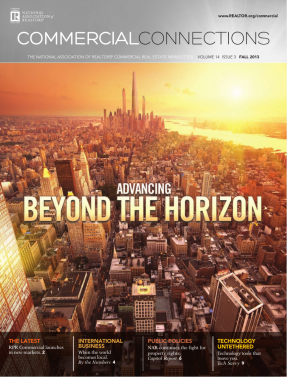 Cover of the 2013 Fall issue of Commercial Connections: Advancing Beyond the Horizon