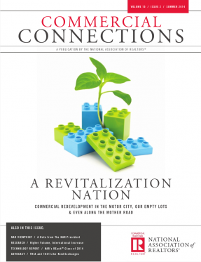 Cover of the 2014 Summer issue of Commercial Connections: A Revitalization Nation