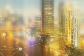 Data concept cityscape
