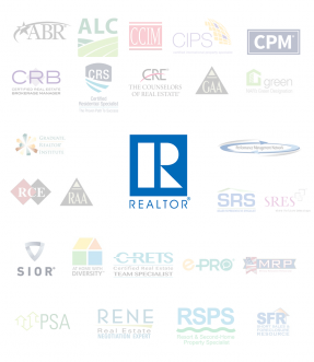 REALTOR® logo with designation and certification logos