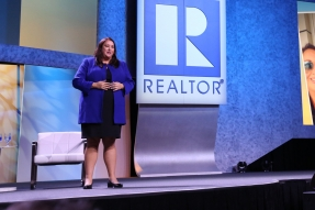 Elizabeth Mendenhall speaks at the REALTORS® Conference & Expo in 2017.