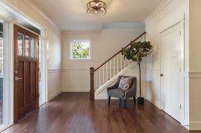 Entry way with wood floor