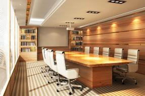 Executive suite meeting room table