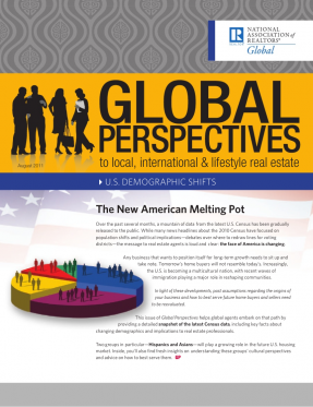 Cover of the August 2011 issue of Global Perspectives: U.S. Demographic Shifts