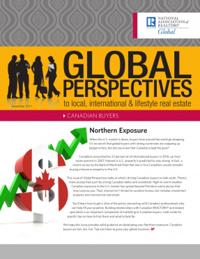 Cover of the December 2011 issue of Global Perspectives: Canadian Buyers