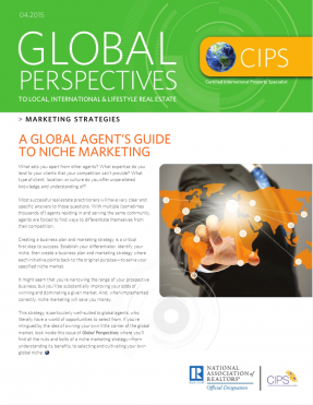 Cover of the April 2015 issue of Global Perspectives: Marketing Strategies