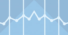 Graph concept with blue background
