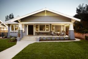 Gray Craftsman house