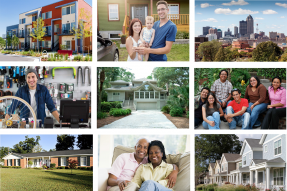 Image collage from Lisa Sturtevant's Economic & Housing Market Outlook slides at the 2018 REALTORS® Conference & Expo