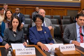 REALTOR® JoAnne Poole giving congressional testimony on minority homeownership