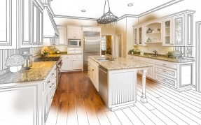 Drawing/photo of kitchen