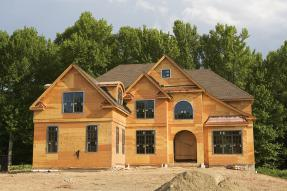 Large home under construction