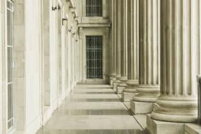 Legal Court - Columns and Hallway