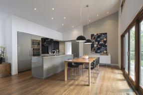 Modern open plan kitchen dining area