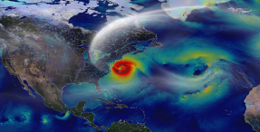 North America satellite hurricane image