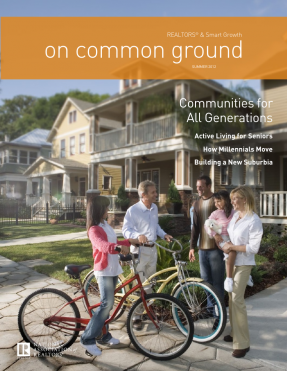 Cover of the 2012 Summer issue of On Common Ground: Communities for All Generations