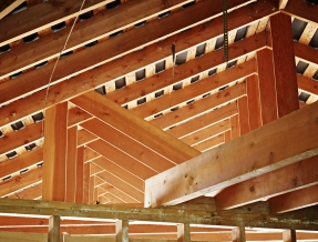 Roof beams - home under construction