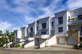 Row of white houses