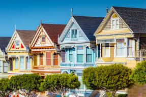 "San Francisco's ""Painted Ladies"" row homes"