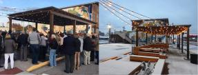 Ribbon cutting ceremony and snowfall at The Perch, Henderson, Kentucky
