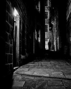 Ghost in Dark Allyway