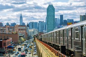 Subway train in Queens, New York