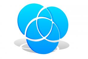 Three interlocking blue circles