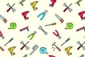 Illustration of hand tools