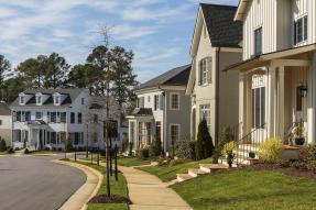Upscale suburban neighborhood