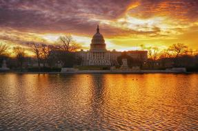 US Capitol Reflecting Pool at Sunrise