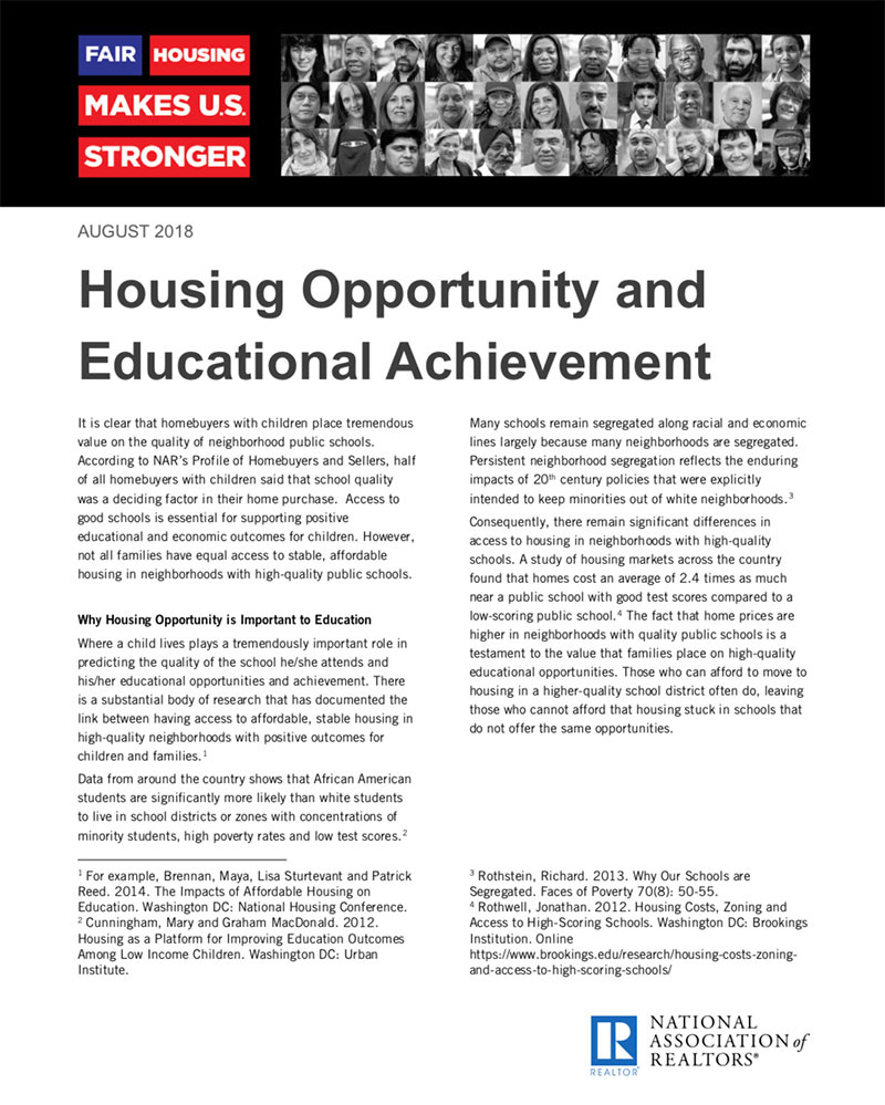 Housing Opportunity & Educational Achievement