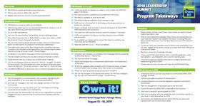 2017 Leadership Summit Program Takeaways